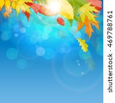 shiny autumn natural leaves... | Shutterstock .eps vector #469788761