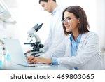 work in scientific laboratory | Shutterstock . vector #469803065