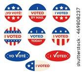 "set of nine different ""i voted"" ... | Shutterstock .eps vector #469808237"