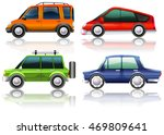 different kinds of cars in four ... | Shutterstock .eps vector #469809641