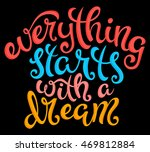 quote everything starts with a... | Shutterstock .eps vector #469812884