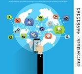 vector businessman using modern ... | Shutterstock .eps vector #469815161