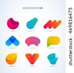 vector logo elements big set.... | Shutterstock .eps vector #469816475