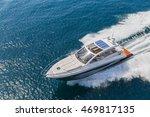 luxury motor boat  rio yachts... | Shutterstock . vector #469817135