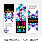 banners set  trendy geometric... | Shutterstock .eps vector #469818209