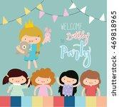 happy birthday card | Shutterstock .eps vector #469818965