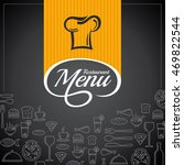 restaurant menu card design... | Shutterstock .eps vector #469822544