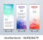 banner stand design template... | Shutterstock .eps vector #469828679
