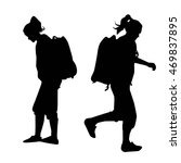 people with backpack vector... | Shutterstock .eps vector #469837895