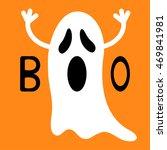 happy halloween. funny flying...   Shutterstock .eps vector #469841981