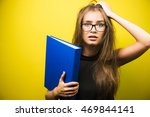 portrait of a young stressed... | Shutterstock . vector #469844141