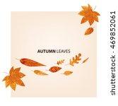 autumn leaves vector set in... | Shutterstock .eps vector #469852061
