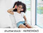 Cute African American Girl...