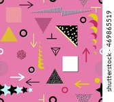 trendy geometric elements... | Shutterstock .eps vector #469865519
