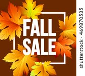 autumn seasonal banner design.... | Shutterstock .eps vector #469870535