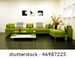 living room modern home | Shutterstock . vector #46987225