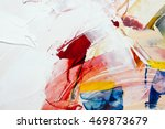 painted canvas as background | Shutterstock . vector #469873679