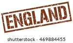 england stamp. brown square... | Shutterstock .eps vector #469884455