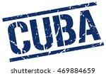 cuba stamp. blue square cuba... | Shutterstock .eps vector #469884659
