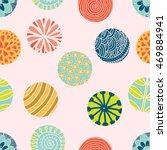 flowers polka dot. vector...   Shutterstock .eps vector #469884941