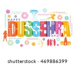 happy dussehra celebration... | Shutterstock .eps vector #469886399