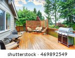 spacious wooden deck with patio ... | Shutterstock . vector #469892549