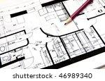 house plan | Shutterstock . vector #46989340