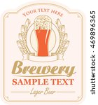 brewery label with a glass of... | Shutterstock .eps vector #469896365