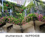 Old Romantic Balcony Ful With...