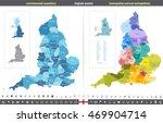 england counties vector map | Shutterstock .eps vector #469904714