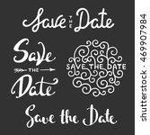set of hand drawn typography... | Shutterstock . vector #469907984