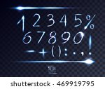 Neon Abstract Lens Numbers And...