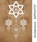 amulet of the dream catcher... | Shutterstock .eps vector #469924757