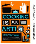 cooking is an art   flat style