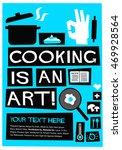 cooking is an art   flat style... | Shutterstock .eps vector #469928564