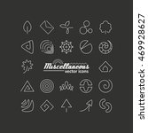 set with icons   abstract... | Shutterstock .eps vector #469928627