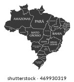 brazil map with states and... | Shutterstock .eps vector #469930319