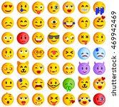 set of emoticons. set of emoji. ... | Shutterstock .eps vector #469942469