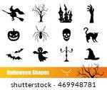 halloween icon set with pumpkin ... | Shutterstock .eps vector #469948781