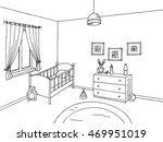 baby room black white interior... | Shutterstock .eps vector #469951019