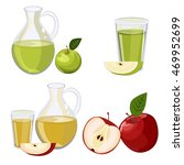 full jug of apple juice ... | Shutterstock .eps vector #469952699