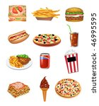 fast food icons | Shutterstock .eps vector #46995595