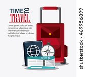 baggage ticket passport time...   Shutterstock .eps vector #469956899