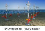 Tidal Energy Illustration    3d ...