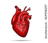 human heart. vector... | Shutterstock .eps vector #469958297