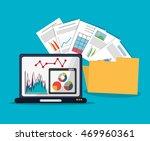 spreadsheet laptop document...   Shutterstock .eps vector #469960361