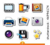 icon sticker series 7  ... | Shutterstock .eps vector #46996174