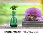 four leaf clover and crochet... | Shutterstock . vector #469962911