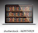 digital library   books inside... | Shutterstock .eps vector #469974929