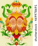 floral background with indian... | Shutterstock .eps vector #469978691
